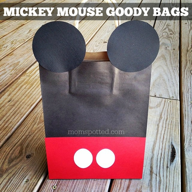 Black White & Red Mickey Mouse DIY Birthday Goody Party Bags {Sawyers 2nd Birthday Party}