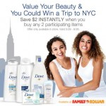 Win a Trip to New York City with Dove & Family Dollar! #FDBeautyIs