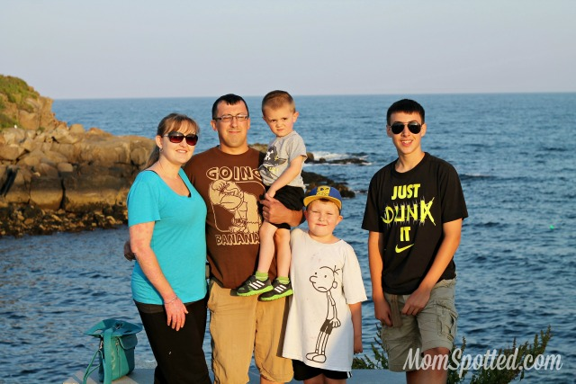 My family in Maine at Nubble Light House