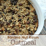 Banana Nut Raisin Oatmeal Breakfast Bake Recipe