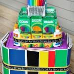 School Supply Cake Tutorial on MomSpotted.com