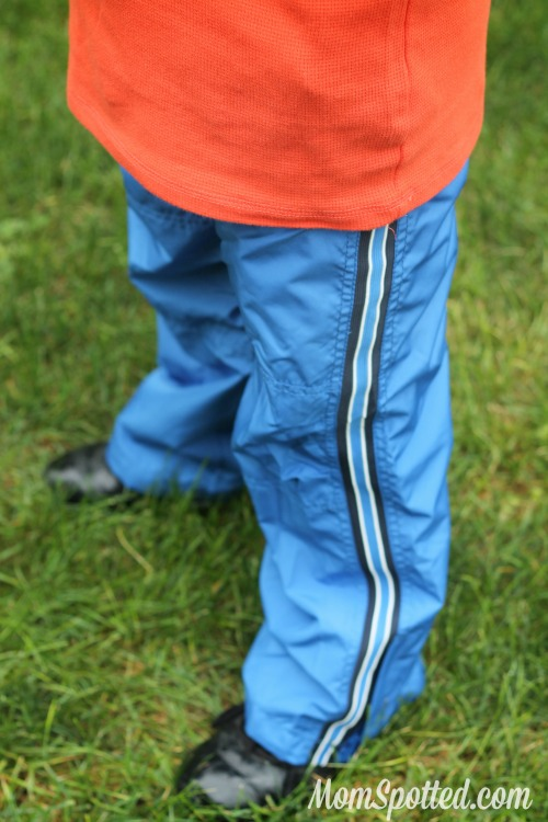 Gavin wearing OshKosh wind pants