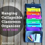 Hanging Collapsible Classroom Organizer {For The Teacher}