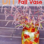 DIY Mosaic Fall Vase {Easy Mod Podge Autumn Craft Tutorial} #FunCraftsWithMom