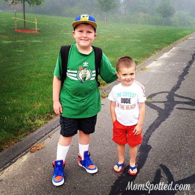 Sawyer Gavin first day of school