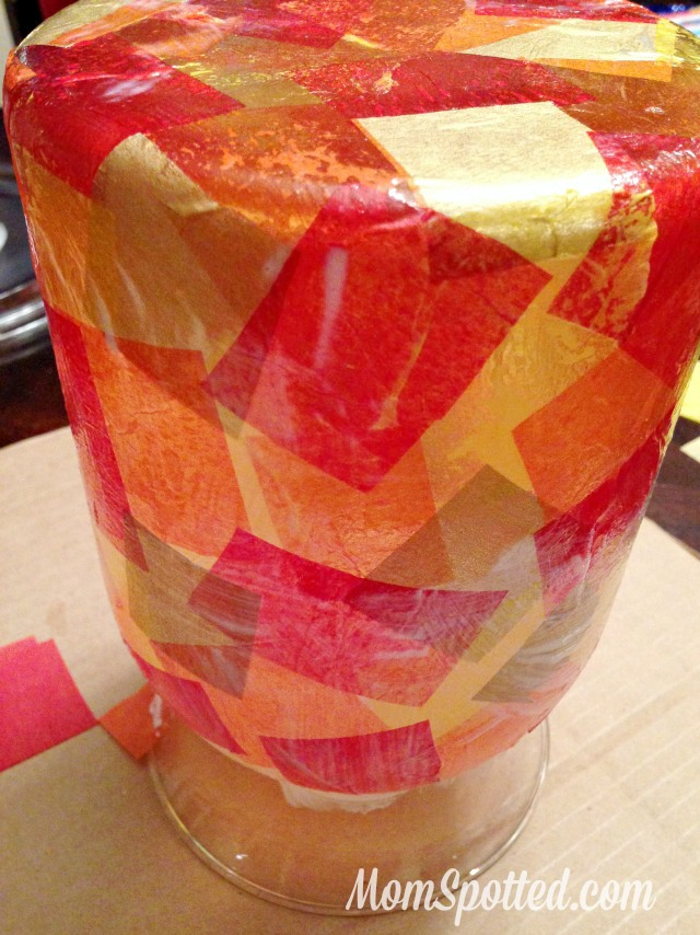DIY Mosaic Fall Vase #FunCraftsWithMom #ModgePodge #HomeDecor #Craft #Diy momspotted.com