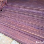 {Wordless Wednesday} We Painted Our Deck PURPLE! {With #Linky}