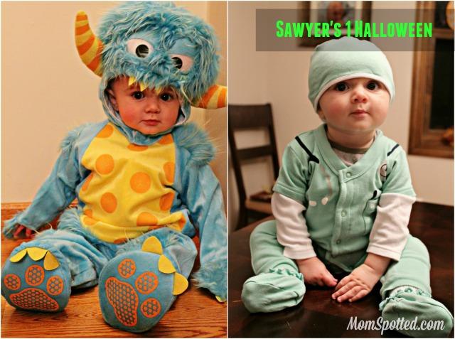 Sawyers 1st Halloween Collage