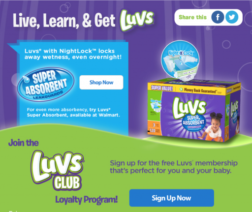 Luvs® Loyalty Program