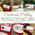 6 Personalized Handmade Holiday Place Cards