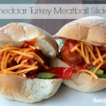 Cheddar Turkey Meatball Sliders Recipe with Mama Mancini's Meatballs
