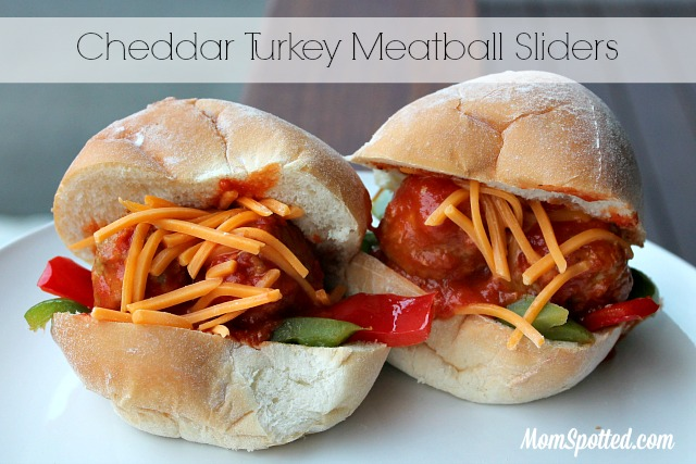 Cheddar Turkey Meatball Sliders