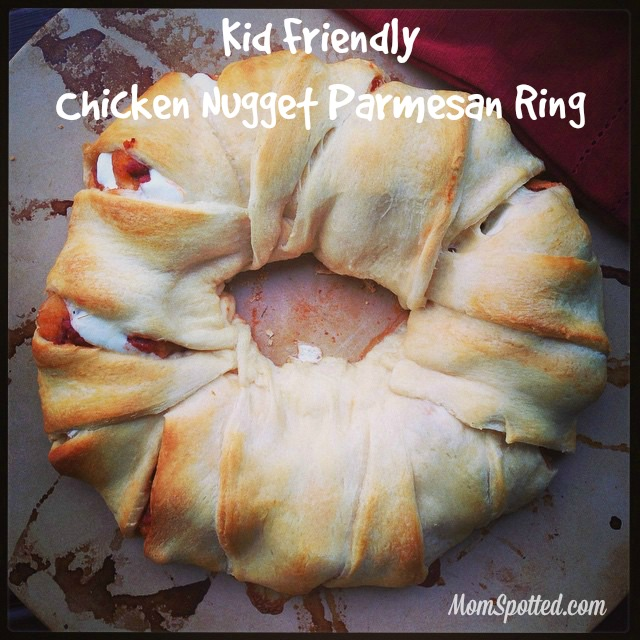 Kid Friendly Chicken Nugget Parmesan Ring Recipe found on MomSpotted