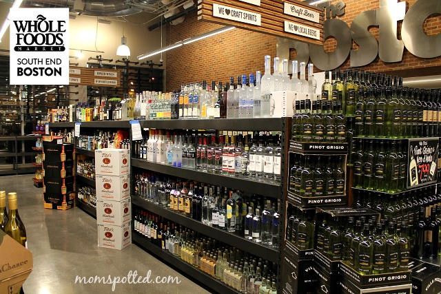 Whole Foods Blog Event in Boston's South End Full Spirits Section