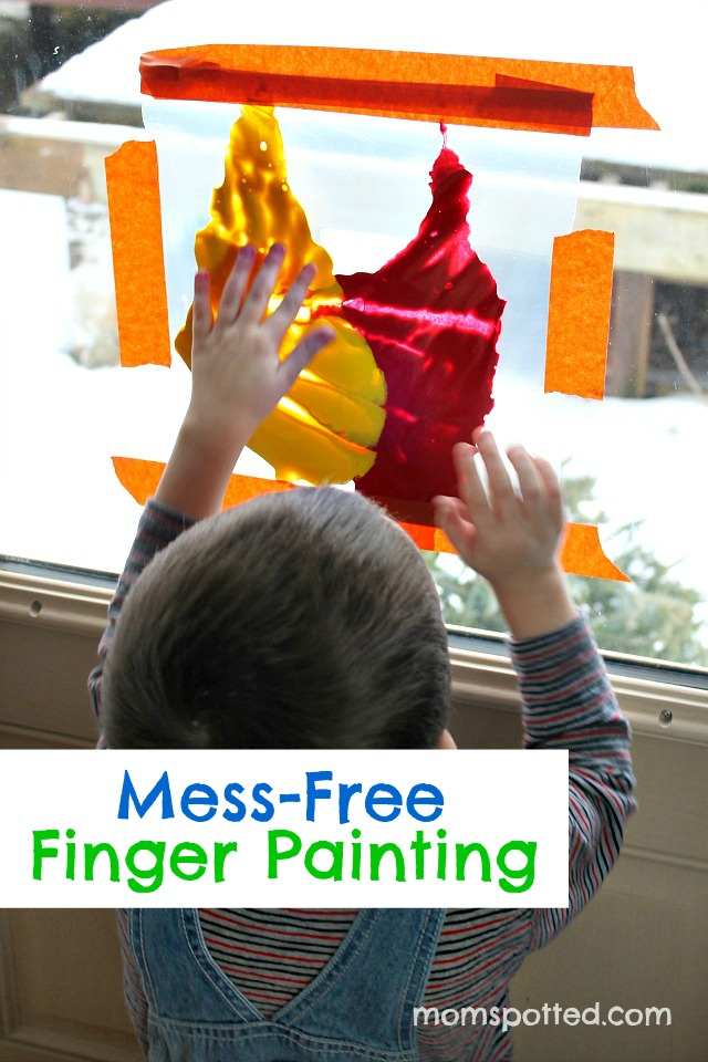 Mess Free Finger Painting for Toddlers {Fun Crafts with Mom}
