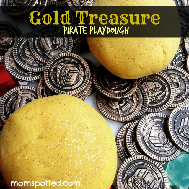 Make Your Own Gold Treasure Pirate Playdough