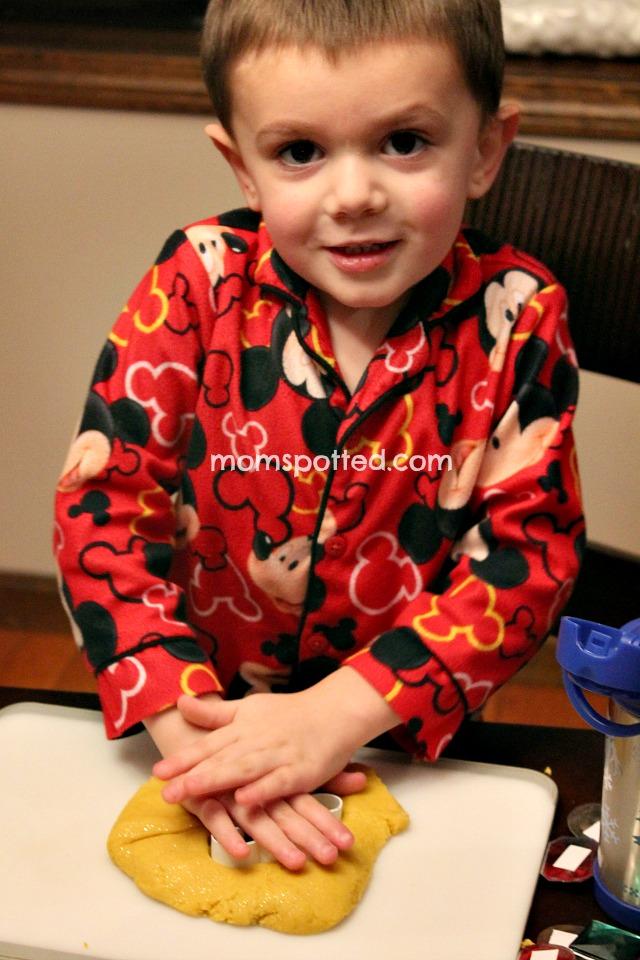 Sawyer loves homemade playdough