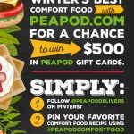 Love Pinterest? Win $500 Pinning Your Favorite Comfort Foods with PeaPod
