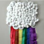 DIY Rainbow Cloud Wall Flag {Fun Crafts with Mom}