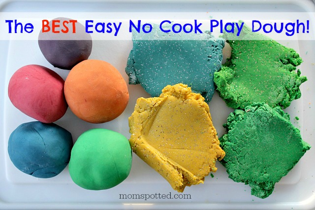 The Best Easy No Cook Playdough Recipe Mom Spotted