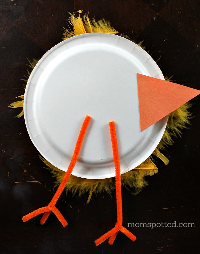 Baby Chicks Paper Plate Craft