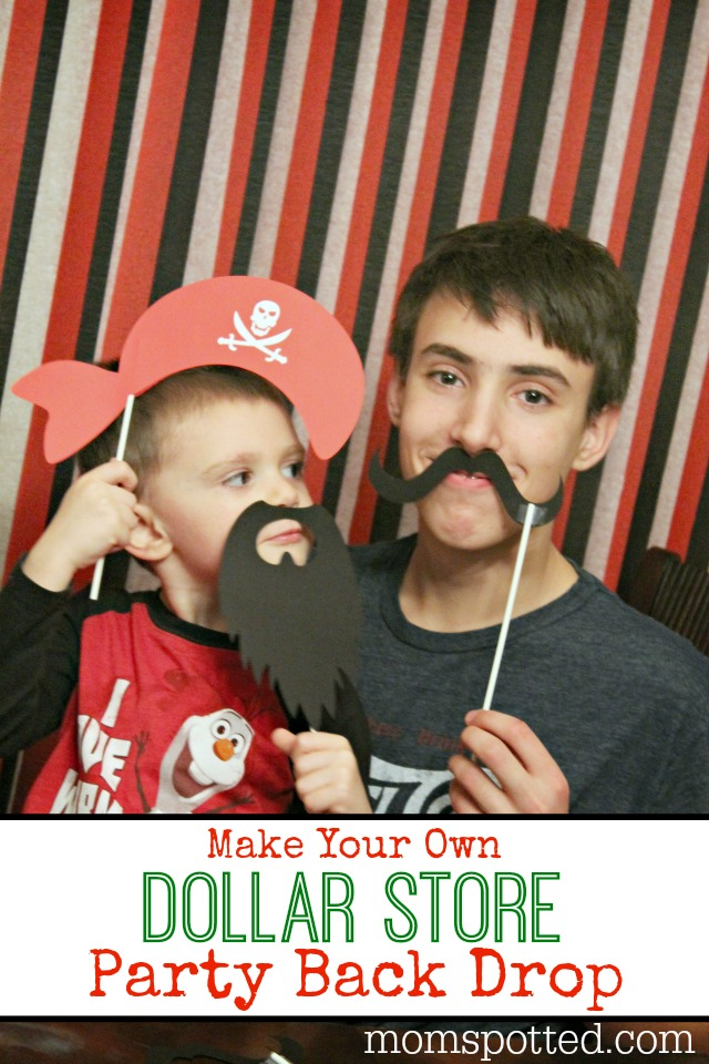 Make Your Own Dollar Store Party Back Drop {Fun Crafts with Mom}