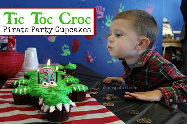 Tic Toc Croc Pirate Cupcakes