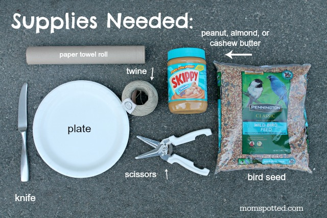How To Make Your Own Bird Seed Feeders {Fun Crafts with Mom} Supplies Needed