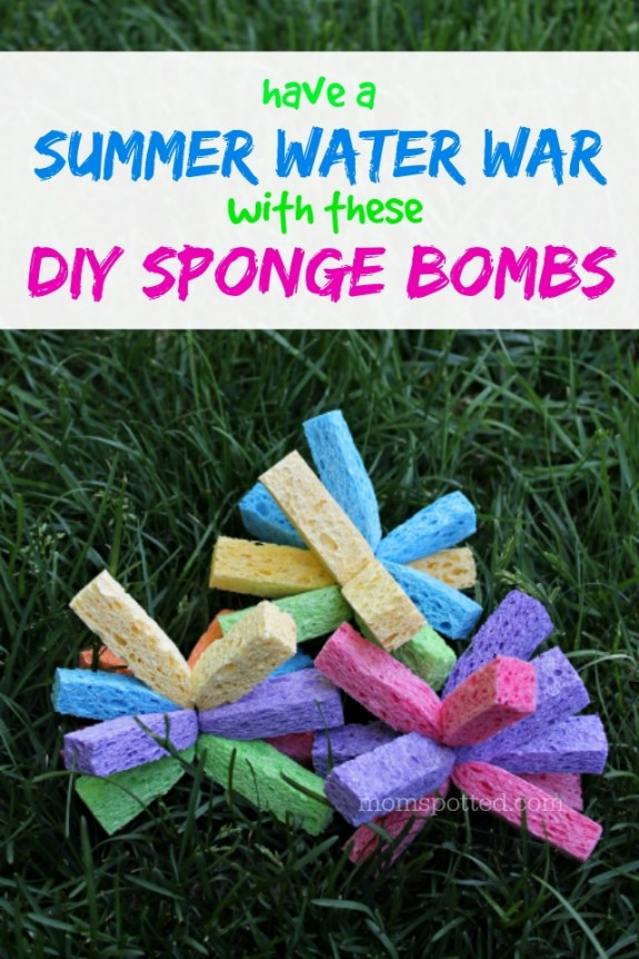 Have a Summer Water War with these DIY Sponge Bombs