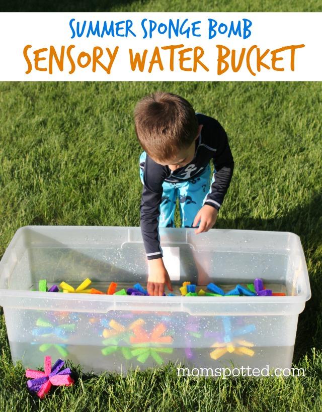 Summer Sensory Water Sponge Sensory Bucket for Toddlers & Preschoolers