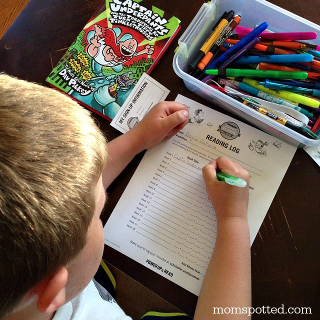 Log your reading with your Scholastic Summer Reading Log