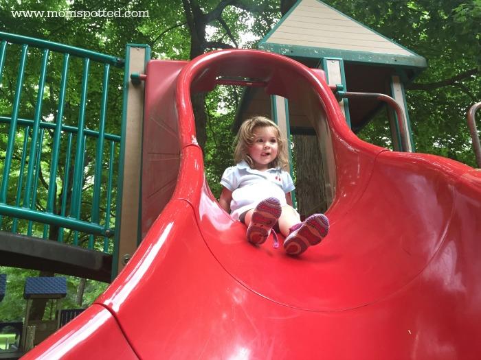 Lola on the playground
