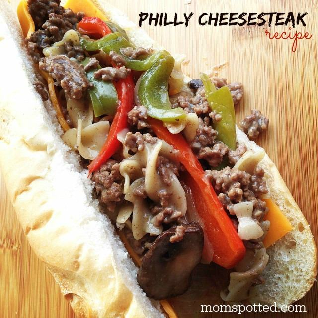 Philly Cheesesteak Grinder Sub Recipe on momspotted