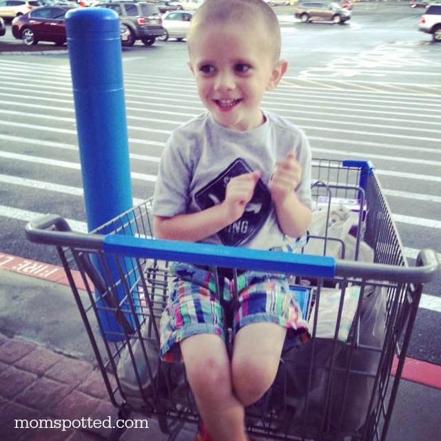 Sawyer loves Walmart