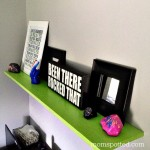 Custom Wall Shelf {Tutorial} with Ace Hardware Paint #FindYourColor