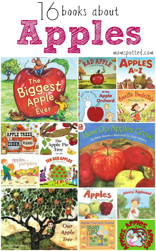 16 books about apples for kids