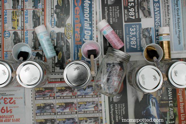 Mason jars and martha stewart paints