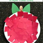 A is for Apple! An Apple Paper Plate Preschool Craft! | Fun Crafts with Mom