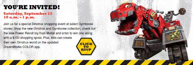 Gymboree Dinotrux Event