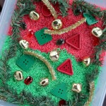 Preschool Christmas Sensory Bin Using Rainbow Rice {Fun Crafts with Mom}