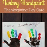 Turkey Handprint Thanksgiving Craft Card {Fun Crafts with Mom}