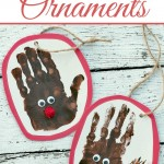 Reindeer Handprint Ornaments {Fun Crafts with Mom}