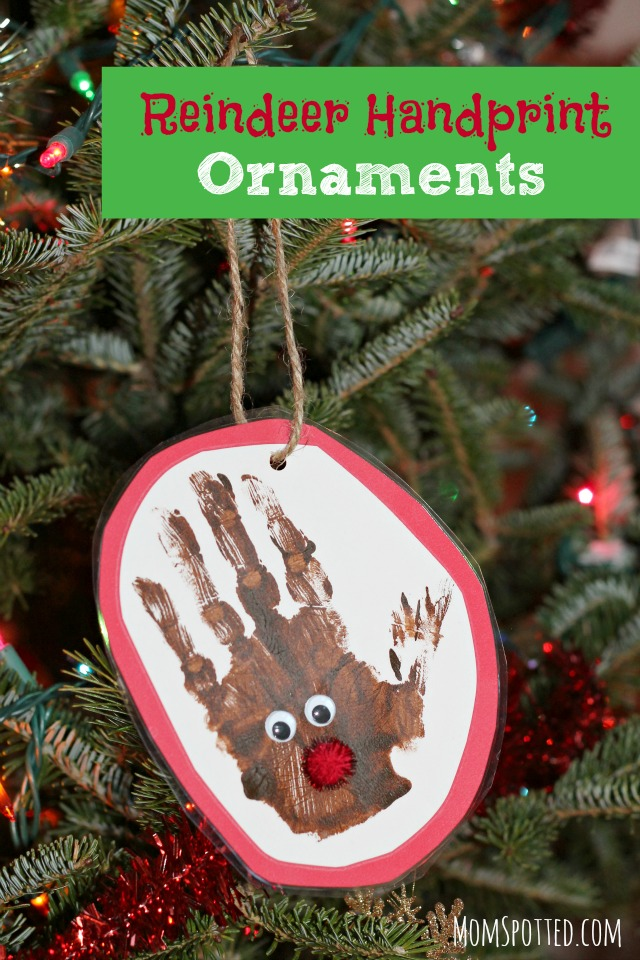 Preschool Reindeer Handprint Ornaments