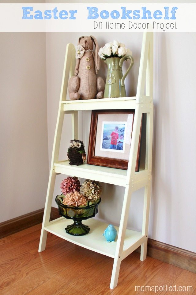 Easter Bookshelf DIY Home Decor Project