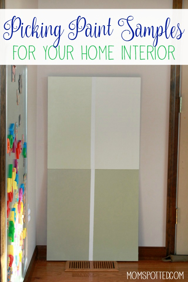 picking paint samples for your home interior