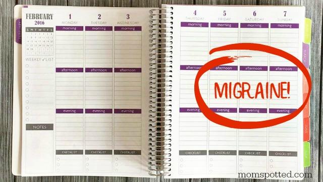 Plum Planner migraine sufferers