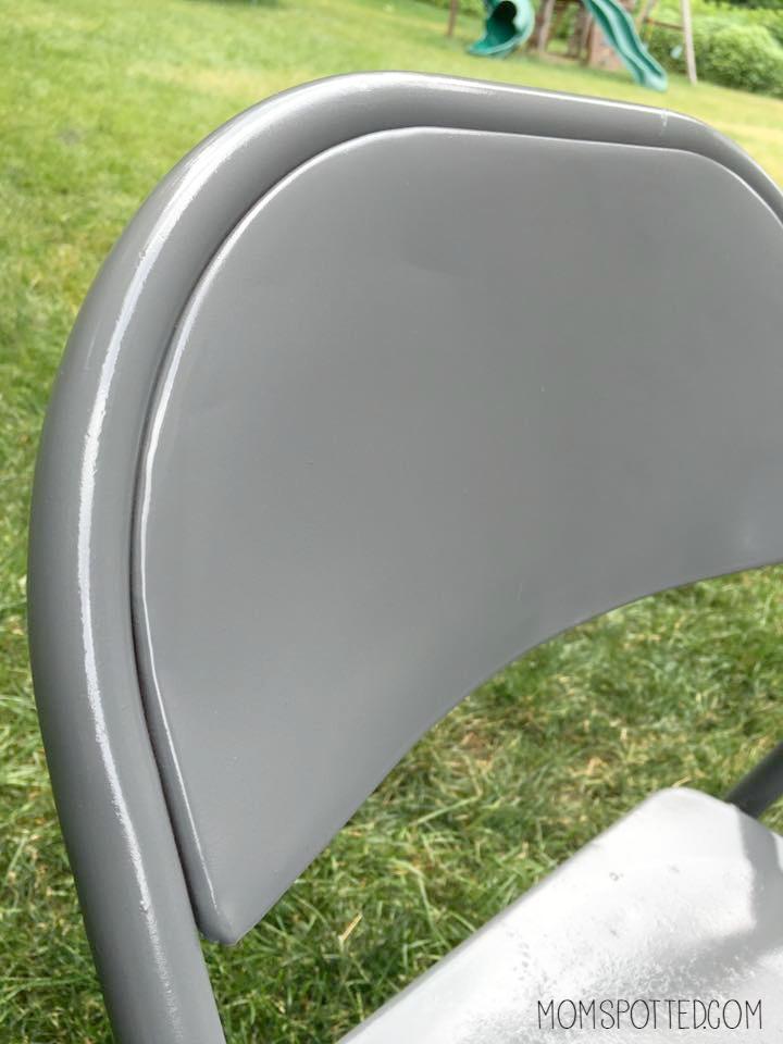 spray painted metal chair diy