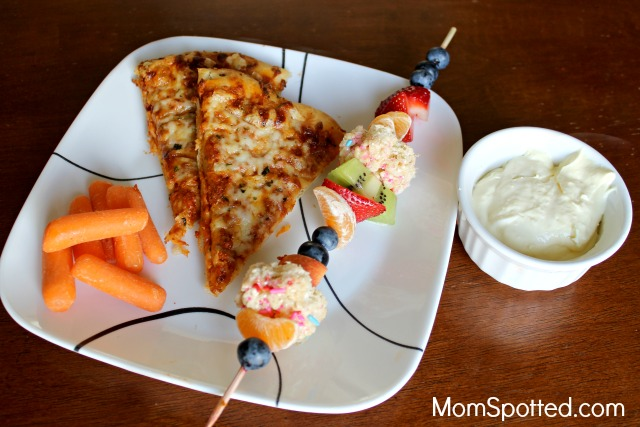 Have A Simple and Balanced Pizza Night With DIGIORNO {& Fruit Kabobs & Fruit Dip Recipe}