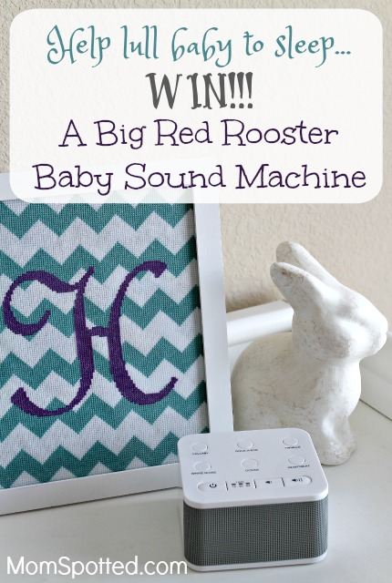 Lull Baby To Sleep With Big Red Rooster's Baby Sound Machine {& Giveaway}