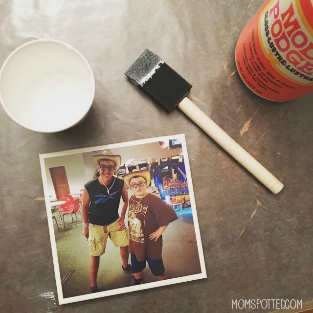 Make Your Own DIY Photo Tile Coasters